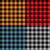 Multicolored plaid samples