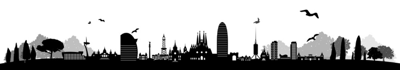 Urban Skyline of Barcelona