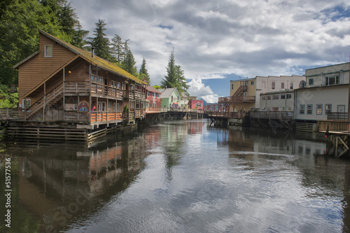 Ketchikan, Alaska, picturesque town view