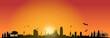 Barcelona Sunrise Skyline
