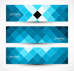 Abstract header blue mosaic texture whit vector design