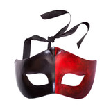 Male black and red carnival mask