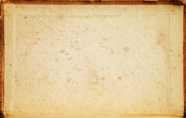 Image of old vintage paper with grunge vignette