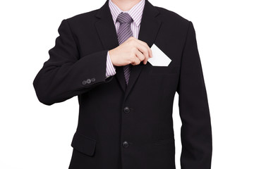 business man portrait isolated on white
