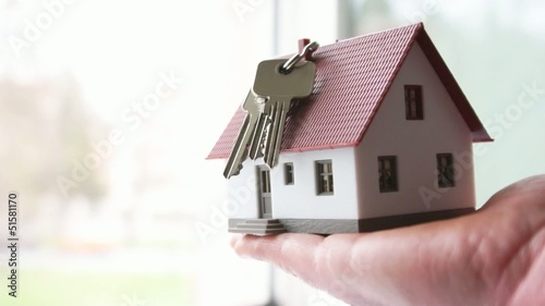 little house and house key