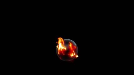 Brennende Kugel
