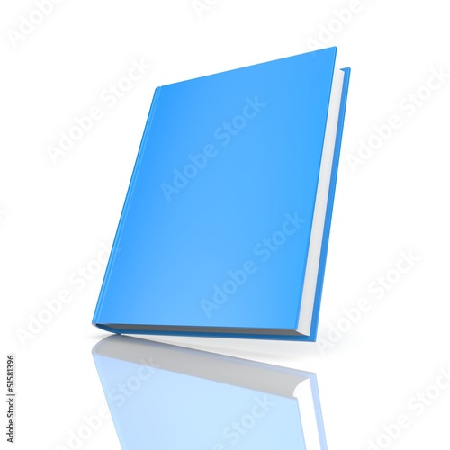 Blank book with reflection