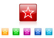 star vector glossy web icon set