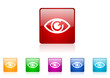 eye vector glossy web icon set