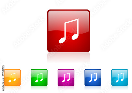 music vector glossy web icon set