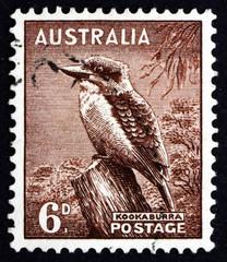 Postage stamp Australia 1942 Kookaburra