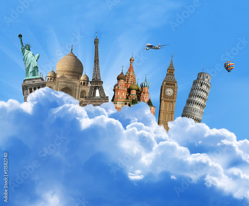 World sights in yhe sky