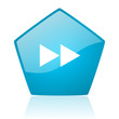 scroll blue pentagon web glossy icon