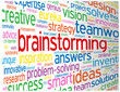 BRAINSTORMING Tag Cloud (ideas teamwork creativity smart clever)