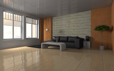 modern living room - interior