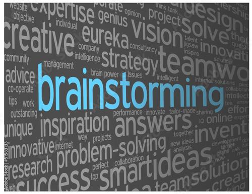 BRAINSTORMING Tag Cloud (teamwork ideas creativity clever smart)