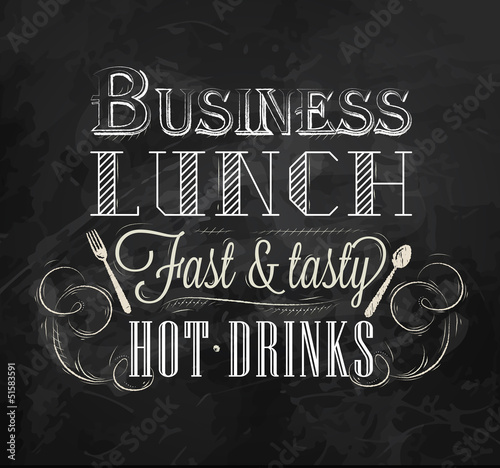 Business lunch Сhalk