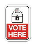 vote here - polling place sign