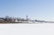 Вид на город Тотьму и церковь с реки Сухоны