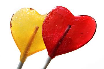 lollipops as hearts