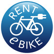 Button rent e bike blue