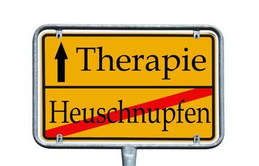 Schild - Heuschnupfen / Therapie