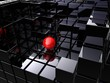 alone on black cubes