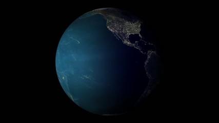Día y noche de la Tierra girando
