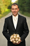 happy, looking, lifestyle, man, portrait, smiling, wedding