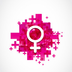 positive female gender symbol
