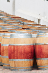Barrel of wine, Stellenbosch, Western Cape, South Africa.