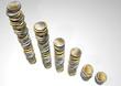 Pila di monete euro