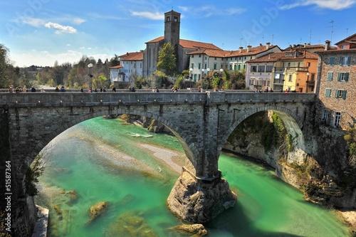 Leinwandbild Motiv ponte del diavolo cividale italia