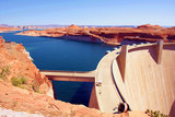 The Glen Dam in Lake Powell,Utah
