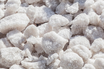 Crystals of sea salt