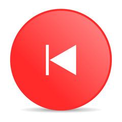 prev red circle web glossy icon