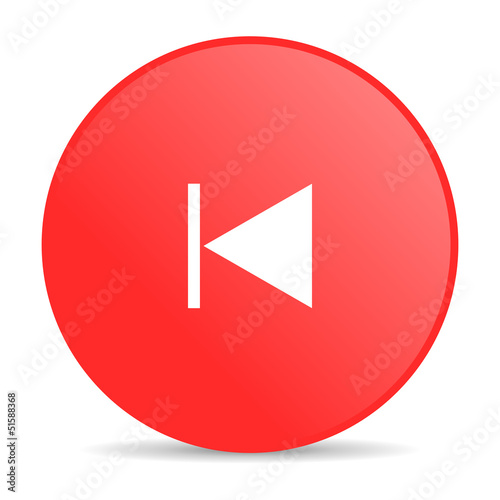 prev red circle web glossy icon