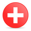 emergency red circle web glossy icon
