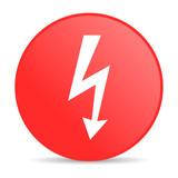 lightning red circle web glossy icon