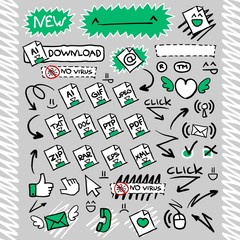 Download Arrows Button Web Icon set1