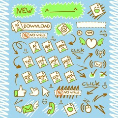 Download Arrows Button Web Icon set2