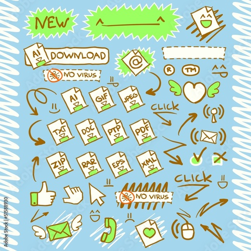 Download Arrows Button Web Icon set2