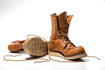 Vintage Style Work Boots
