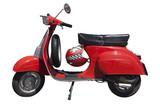 Czerwony skuter Vespa