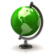 Illustration of green earth globe