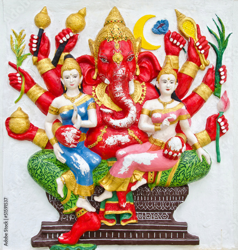 India God Ganesha or God of success