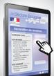 tablette tactile rechercher : déclaration de revenu zoom