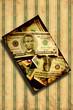 Retroplakat - Schräger Dollar