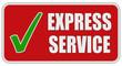 CB-Sticker rot eckig oc EXPRESS SERVICE