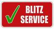 CB-Sticker rot eckig oc BLITZSERVICE